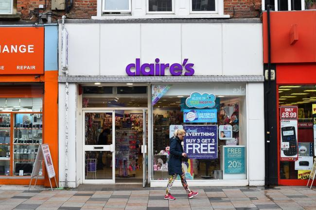 Claire's 'considers United Kingdom  store closures'